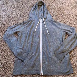 Grey Lightweight Zip Hoodie